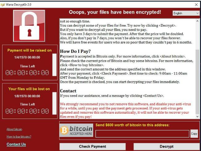 second message from WannaCry
